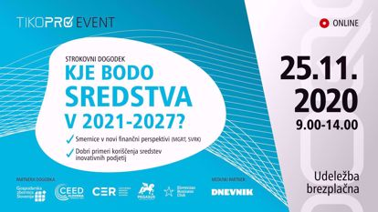 Picture of Strokovni dogodek: Kje bodo sredstva v 2021-2027: Posnetek predavanj 2. dela
